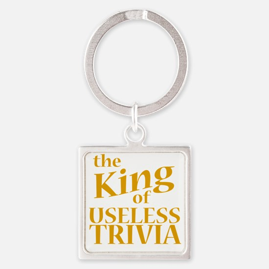 King of Useless Trivia Square Keychain