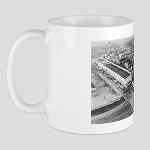 Aerial photo of Chernobyl nuclear power Mug