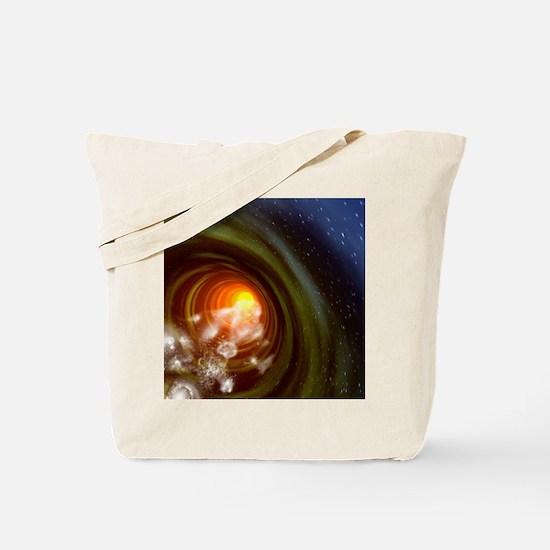 Wormhole event, computer artwork Tote Bag