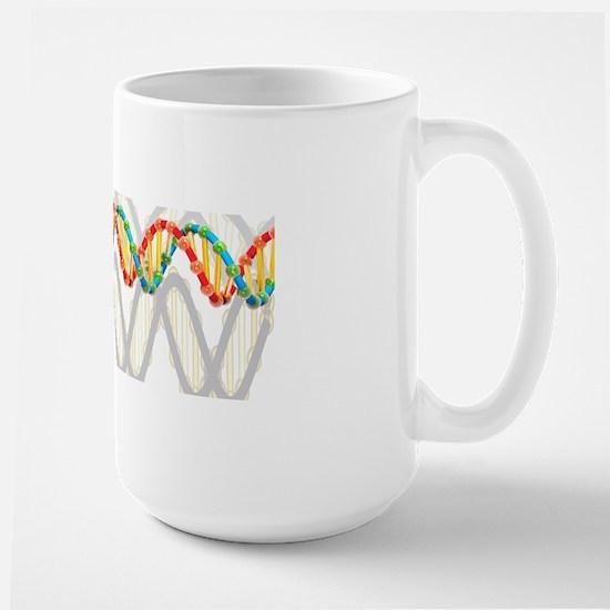 DNA molecule, artwork Large Mug