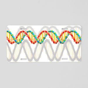 DNA molecule, artwork Aluminum License Plate