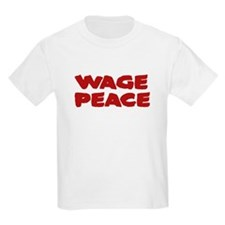 Wage Peace Anti-War Kids Light T-Shirt