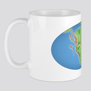 Continental drift, 200 million years ag Mug