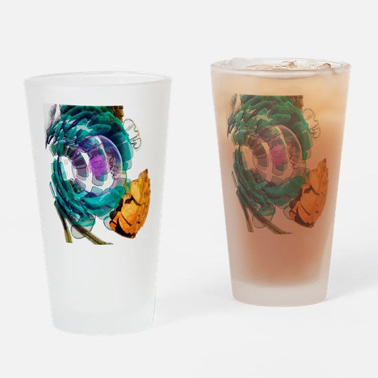 Animal cell, artwork Drinking Glass