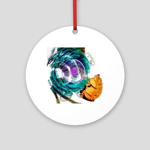Animal cell, artwork Round Ornament