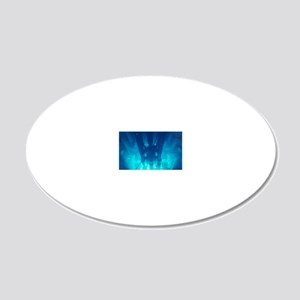Advanced Test Reactor core 20x12 Oval Wall Decal