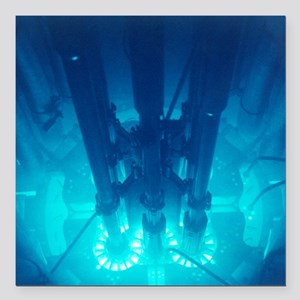 "Advanced Test Reactor co Square Car Magnet 3"" x 3"""