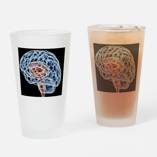 Brain, artwork Drinking Glass
