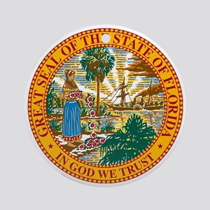 Great Seal of Florida Round Ornament