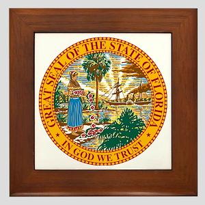 Great Seal of Florida Framed Tile