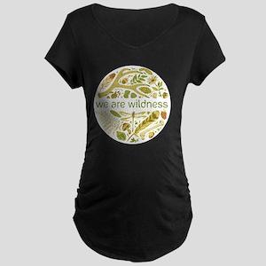 We Are Wildness Maternity Dark T-Shirt