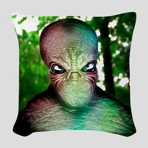 Alien Woven Throw Pillow