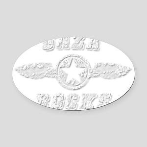 GAZA ROCKS Oval Car Magnet