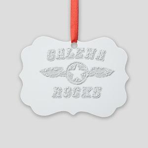GALENA ROCKS Picture Ornament