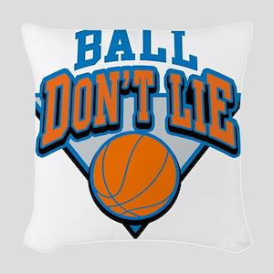 Ball Dont Lie Woven Throw Pillow
