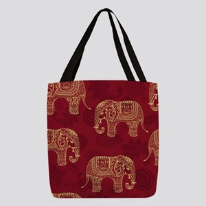 Beautiful Elephant Pattern Polyester Tote Bag