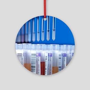 Blood screening Round Ornament