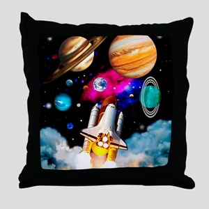 Art of space shuttle exploration Throw Pillow