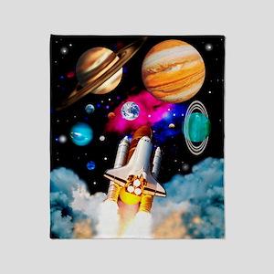 Art of space shuttle exploration Throw Blanket