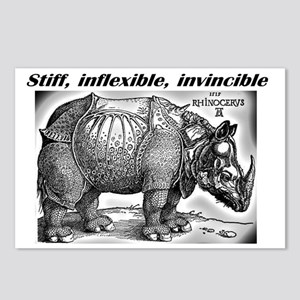 Stiff Inflexible invincib Postcards (Package of 8)
