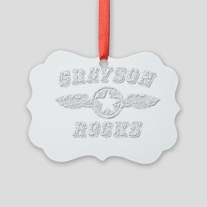 GRAYSON ROCKS Picture Ornament