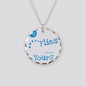 sister flies for black t Necklace Circle Charm