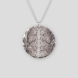snake Skin Wallet 1 Necklace Circle Charm