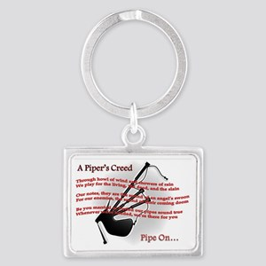 Piper's Creed (White) Landscape Keychain