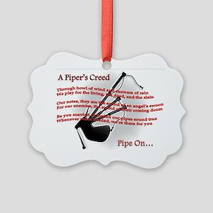 Piper's Creed (White) Picture Ornament