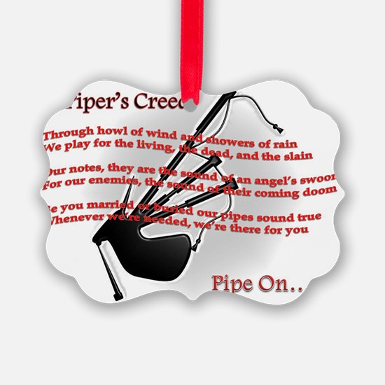 Piper's Creed (White) Ornament