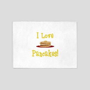 I Love Pancakes 5'x7'Area Rug