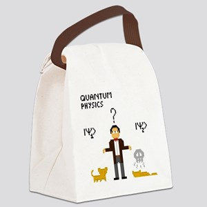 Pixel Schrödinger Canvas Lunch Bag
