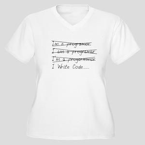 I Write Code Women's Plus Size V-Neck T-Shirt