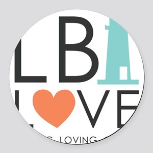 LBI LOVE  Round Car Magnet