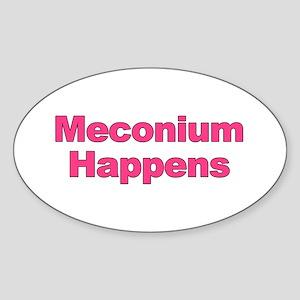 The Meconium Oval Sticker