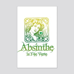 Absinthe Fairy Vintage Mini Poster Print