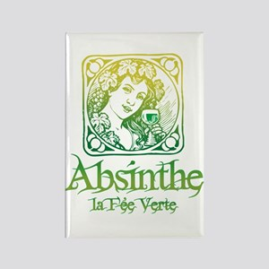 Absinthe Fairy Vintage Rectangle Magnet
