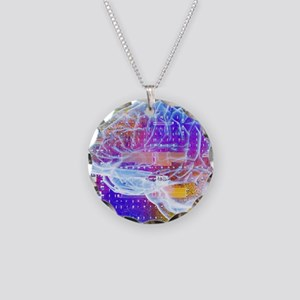 Artificial intelligence Necklace Circle Charm
