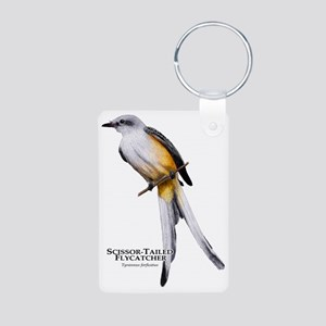 Scissor-Tailed Flycatcher Aluminum Photo Keychain