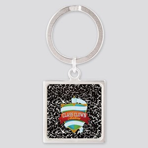 pet tag heart 02 Square Keychain