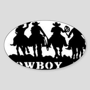 Cowboy Up Sticker (Oval)