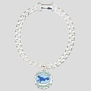 T-Rex Hates Push-ups 2 Charm Bracelet, One Charm