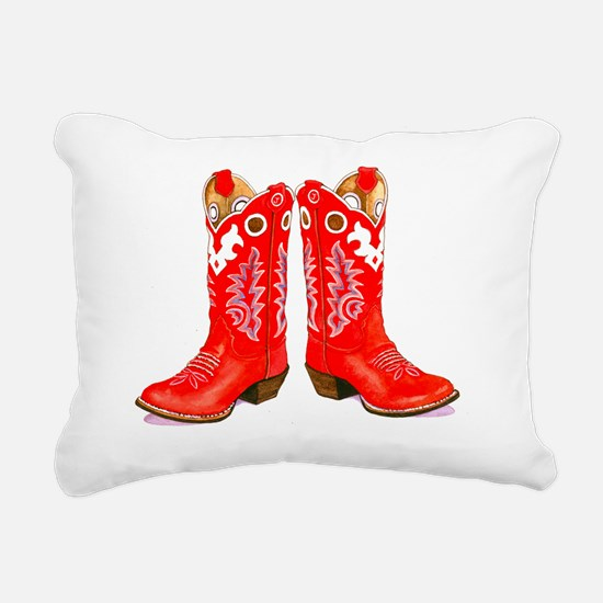 Red Boots Rectangular Canvas Pillow