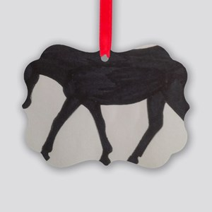 Mule outline Picture Ornament
