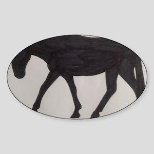 Mule outline Sticker (Oval)