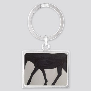Mule outline Landscape Keychain