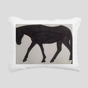 Mule outline Rectangular Canvas Pillow