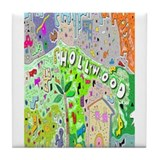 Hollywood hills Tile Coasters