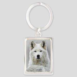 White Wolf Portrait Keychain