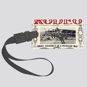 Vintage Rodeo Large Luggage Tag